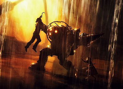 video games, Big Daddy, Little Sister, BioShock - related desktop wallpaper