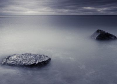 ocean, landscapes, nature, waves, rocks, fog, mist, skyscapes, sea - random desktop wallpaper