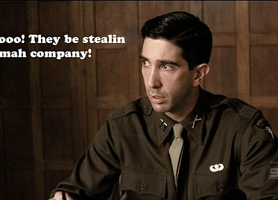 funny, Band Of Brothers, David Schwimmer - random desktop wallpaper