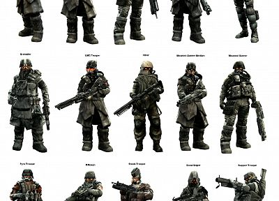 soldiers, weapons, Killzone, Killzone 2 - related desktop wallpaper