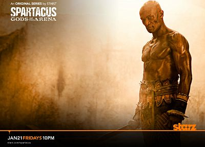Spartacus, Oenomaus, Doctore, Spartacus: Gods of the Arena, Peter Mensah - random desktop wallpaper