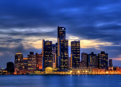 cityscapes, skylines, architecture, buildings, Detroit - related desktop wallpaper