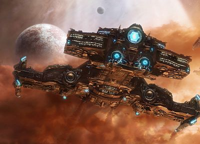 spaceships, Blizzard Entertainment, science fiction, vehicles, StarCraft II - related desktop wallpaper