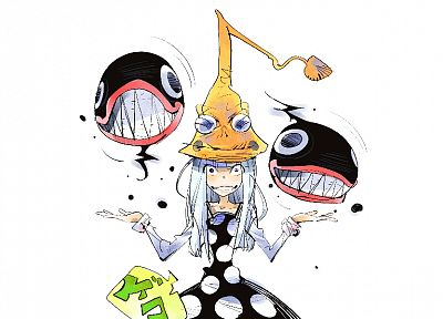 Soul Eater, witch, frogs, simple background, Eruka the Frog - related desktop wallpaper