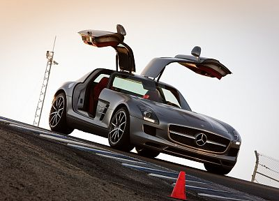 cars, Mercedes-Benz, gullwing, Mercedes-Benz SLS AMG E-Cell - desktop wallpaper