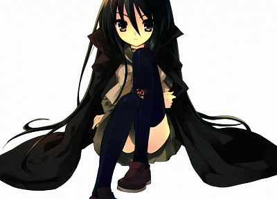 Shakugan no Shana, Shana, thigh highs, simple background - related desktop wallpaper