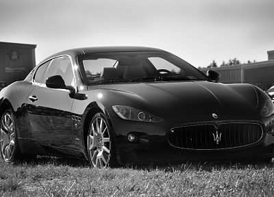 cars, Maserati, grayscale, vehicles - related desktop wallpaper