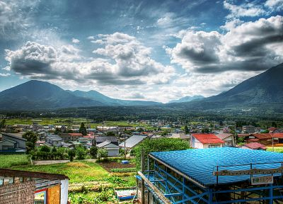 Japan, cityscapes, buildings, HDR photography - related desktop wallpaper