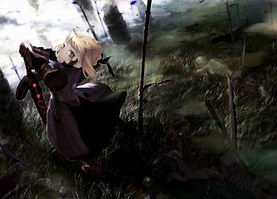 Fate/Stay Night, Saber, Saber Alter, Fate series - related desktop wallpaper