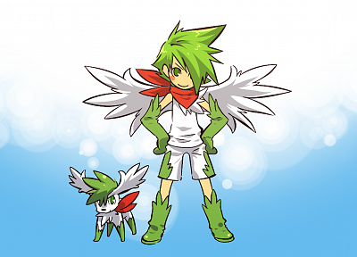 Pokemon, Shaymin, Hitec - random desktop wallpaper