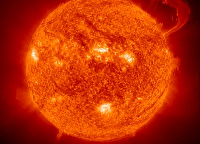 Sun, stars, Big Red, solar flares - related desktop wallpaper