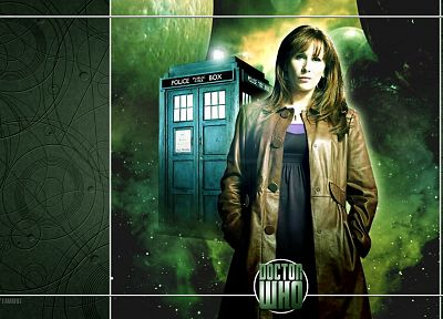 TARDIS, Doctor Who, Catherine Tate, Donna Noble - random desktop wallpaper