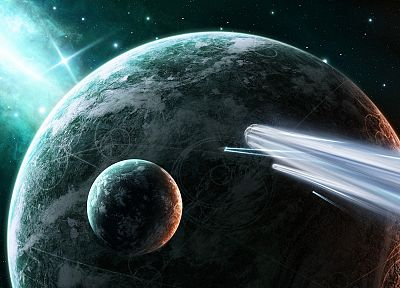 outer space, planets, spaceships, vehicles - random desktop wallpaper