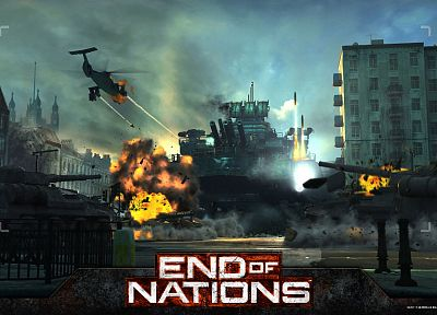 war, helicopters, tanks, vehicles, End Of Nations - desktop wallpaper