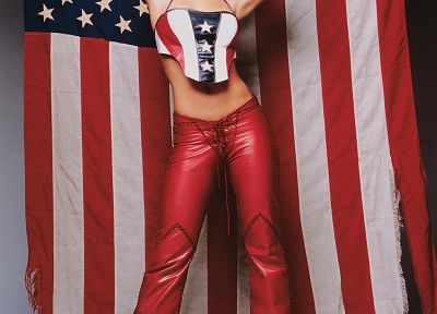 Britney Spears, American Flag - random desktop wallpaper