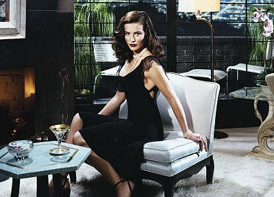 women, Kate Beckinsale, window panes, fireplaces - random desktop wallpaper