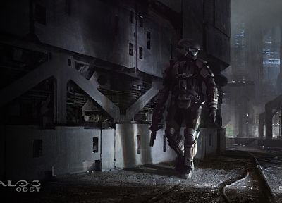 video games, Halo, Halo ODST, artwork - random desktop wallpaper
