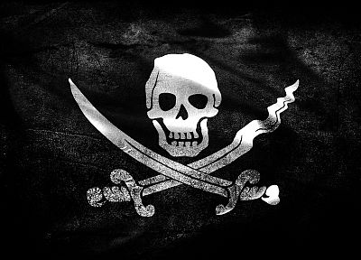 flags, skull and crossbones, Jolly Roger - random desktop wallpaper