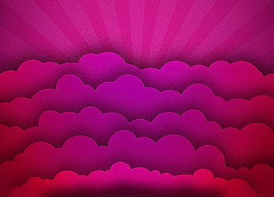 abstract, clouds, pink - desktop wallpaper