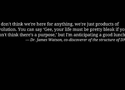 text, quotes, DNA, Dr James Watson - random desktop wallpaper