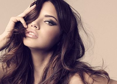 women, Adriana Lima, models, faces - desktop wallpaper