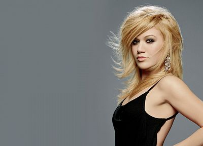 blondes, women, Kelly Clarkson, faces - random desktop wallpaper