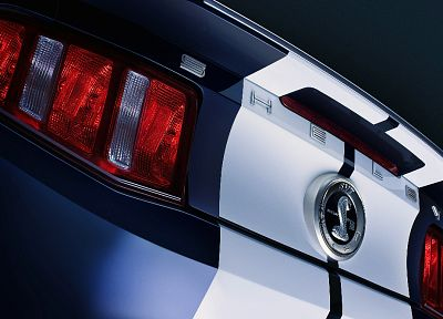 close-up, cars, Ford, muscle cars, back view, vehicles, Ford Mustang, Ford Shelby, low-angle shot, taillights - desktop wallpaper