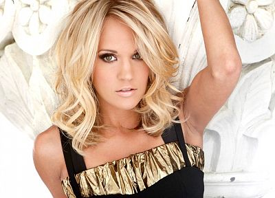 blondes, women, celebrity, Carrie Underwood, singers - desktop wallpaper