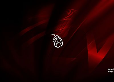 red, logos, Maya, autodesk - random desktop wallpaper