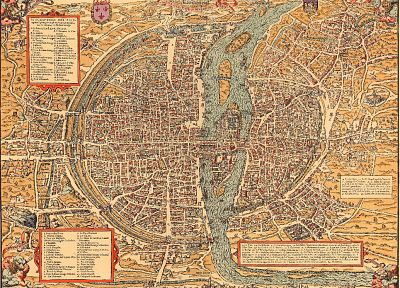 Paris, maps - related desktop wallpaper