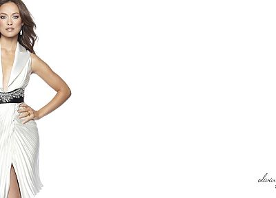 brunettes, women, Olivia Wilde, white background - related desktop wallpaper