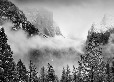 winter, storm, California, National Park, Yosemite National Park - random desktop wallpaper