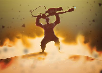 video games, fire, Pyro TF2, Team Fortress 2 - related desktop wallpaper