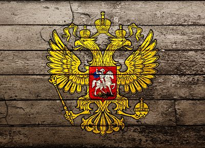 wood, patterns, Coat of arms, Russian Federation - random desktop wallpaper