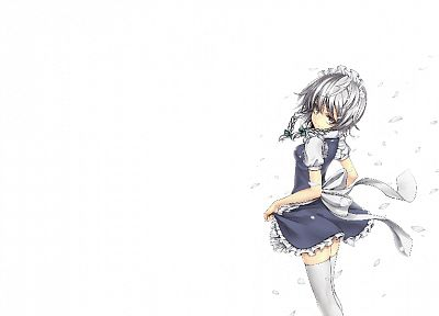 Touhou, maids, Izayoi Sakuya, simple background - related desktop wallpaper