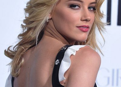 blondes, women, green eyes, Amber Heard - related desktop wallpaper