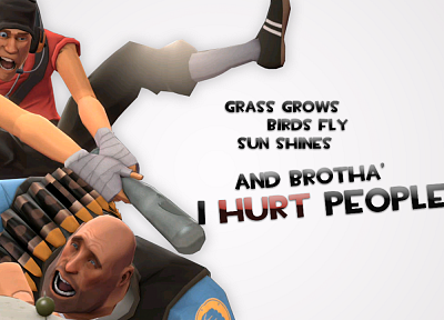 video games, Heavy TF2, Scout TF2, Team Fortress 2, fps, desks, white background - random desktop wallpaper