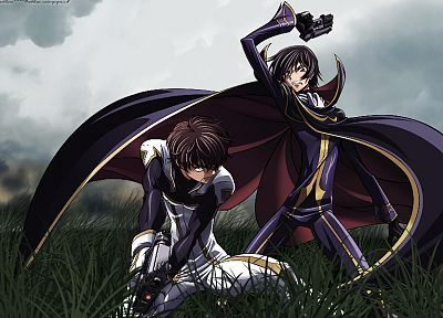 Code Geass, Kururugi Suzaku, Lamperouge Lelouch - random desktop wallpaper