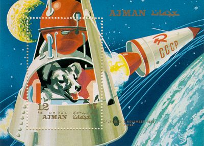 Soviet, Russia, dogs, stamp, laika - related desktop wallpaper
