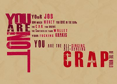 Fight Club, typography - desktop wallpaper