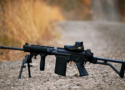 rifles, guns, weapons, FN Fal, eotech, assault rifle - related desktop wallpaper