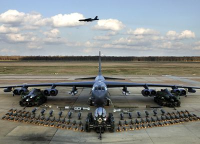 aircraft, war, military, United States Air Force, vehicles, stratofortress, Boeing B-52 Stratofortress - random desktop wallpaper