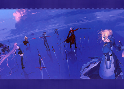Fate/Stay Night, Gilgamesh, Type-Moon, Saber, Rider (Fate/Stay Night), Archer (Fate/Stay Night), Lancer (Fate/stay night), Berserker (Fate/Stay Night), Assassin (Fate/Stay Night), Caster (Fate/Stay Night), Fate series - random desktop wallpaper