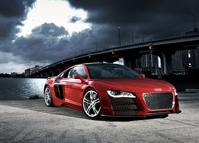 cars, bridges, Audi, Audi R8, V12 TDI - random desktop wallpaper