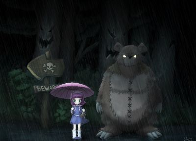 forests, League of Legends, Totoro, Tibbers, Annie the Dark Child - related desktop wallpaper