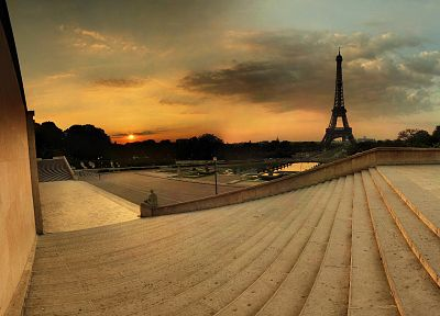 Eiffel Tower, Paris, scenic - random desktop wallpaper