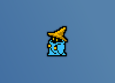 Final Fantasy, mage, black, Black Mage, 8-bit - desktop wallpaper