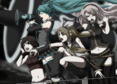 Vocaloid, Hatsune Miku, Megurine Luka, Kagamine Rin, Love is War, Meiko, detached sleeves - random desktop wallpaper