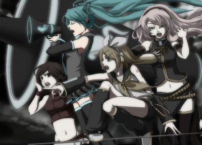 Vocaloid, Hatsune Miku, Megurine Luka, Kagamine Rin, Love is War, Meiko, detached sleeves - newest desktop wallpaper