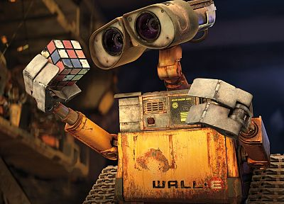 Wall-E, cubes, Rubiks Cube - related desktop wallpaper
